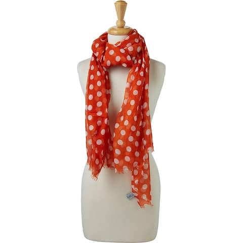 Tickled Pink Large Traditional Polkadots Scarf