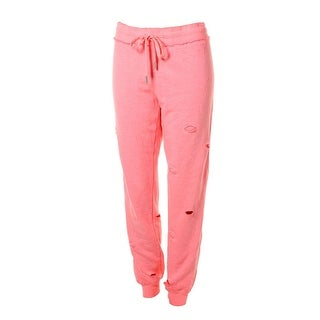 Guess Womens Heathered Destroyed Sweat Pants - S