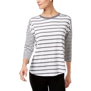 Calvin Klein Performance Womens Pullover Top Striped Casual