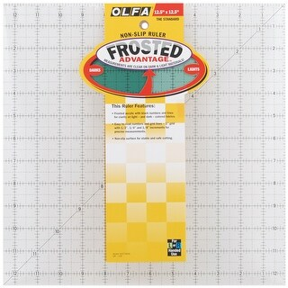 """Olfa Frosted Advantage Non-Slip Ruler """"The Standard"""""""