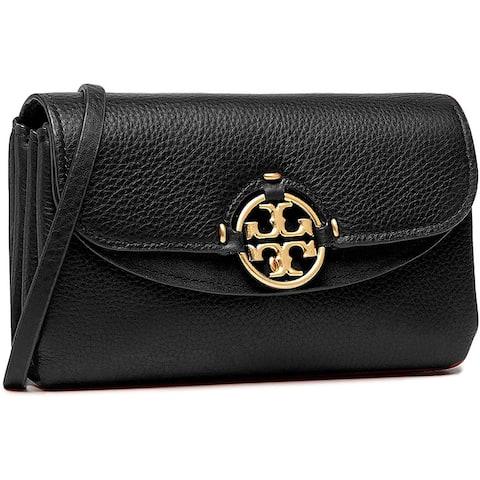 Tory Burch Womens Black Wallet Crossbody Handbag