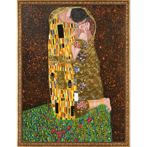 Gustav Klimt 'The Kiss' (Full View - Luxury Line) Hand Painted Oil Reproduction