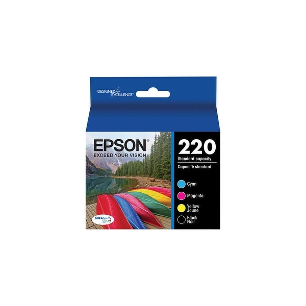 Epson 220 Cyan, Magenta, Yellow Ink Cartridge, Epson T220520
