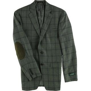 Link to Ralph Lauren Mens Windowpane Two Button Blazer Jacket Similar Items in Sportcoats & Blazers