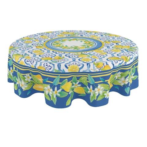 Lovely Lemons 70 Round Tablecloth