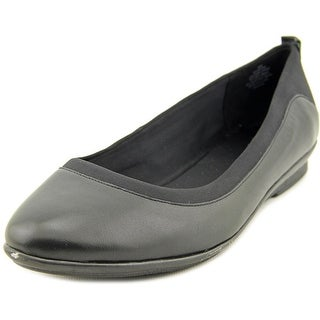 Easy Spirit Keomi Women W Round Toe Leather Black Flats
