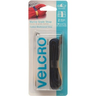 "Velcro(R) Brand All Purpose Marine Grade Straps 1""X26"" 2/Pkg-Blue"