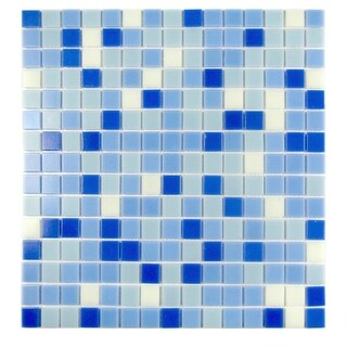 "Miseno MT-LAGOON3/4X20 Lagoon - 3/4"" X 3/4"" - Glass Visual - Wall Tile (Sold by Sheet) 13""x13"""