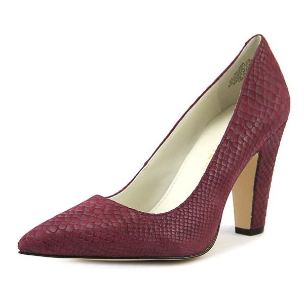 Anne Klein Hollyn Women Pointed Toe Leather Burgundy Heels