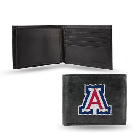 """4"""" Blue and Black College Arizona Wildcats Embroidered Billfold Wallet"""