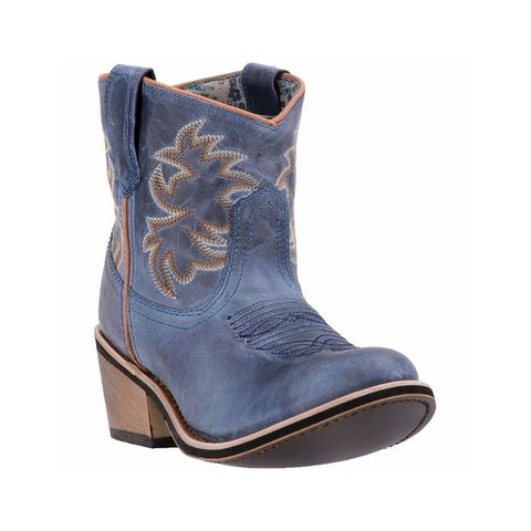 "Laredo Fashion Boots Womens Sapphyre 6"" Leather Cowboy Navy"
