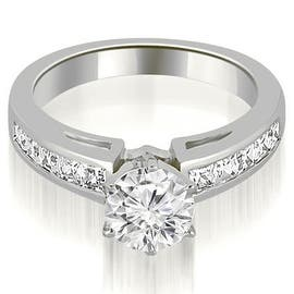 1.20 cttw. 14K White Gold Channel Set Princess Cut Diamond Engagement Ring (Option: 3)|https://ak1.ostkcdn.com/images/products/is/images/direct/4923a58bf7f80e91eb2cced0ed0cfded5e1d8c2b/1.20-cttw.-14K-White-Gold-Channel-Set-Princess-Cut-Diamond-Engagement-Ring.jpg?impolicy=medium