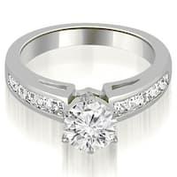 1.20 cttw. 14K White Gold Channel Set Princess Cut Diamond Engagement Ring,HI,SI1-2