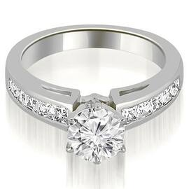 14k white gold channel set princess cut diamond engagement ring - Gold Diamond Wedding Rings