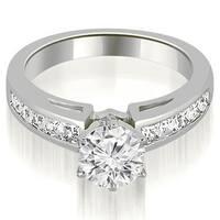 1.45 cttw. 14K White Gold Channel Set Princess Cut Diamond Engagement Ring
