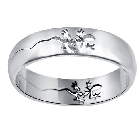 Stylish Art Stainless Steel Band Rings by Orchid Jewelry