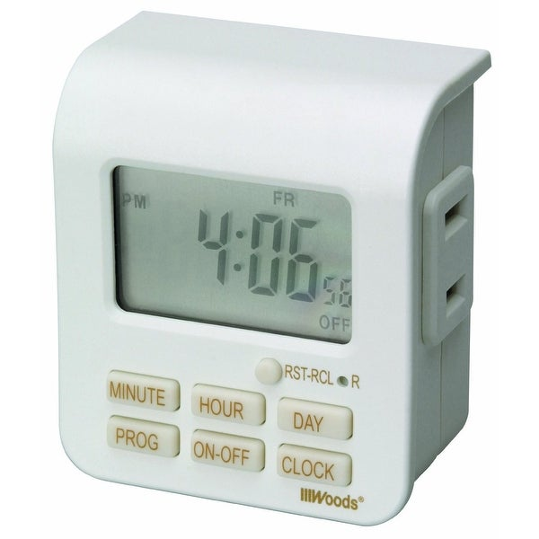 Coleman Cable 50008AC Indoor 7 Day Digital Timer, 125 Volt