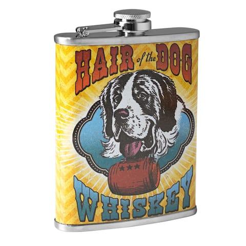 Hair of the Dog Whiskey Stainless Steel 8 oz Liquor Flask
