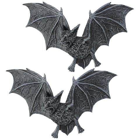 The Vampire Bat of Castle Barbarosa Wall Sculpture Large Set of Two