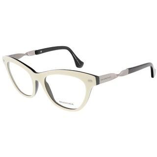 Balenciaga BA5015/V 024 White/Black Cat Eye prescription-eyewear-frames
