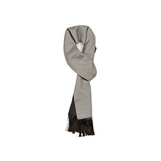 Tom Ford Men's Silver Brown Geometric Print Silk Cashmere Scarf - M