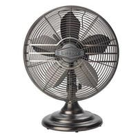 "Lasko R12210 12"" Classic Metal Table Fan With Oil Rubbed Bronze Finish"