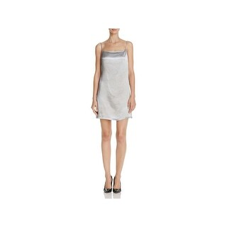 French Connection Womens Katie Slip Dress Spaghetti Strap Mini