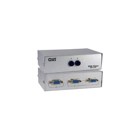 QVS CA298-2P QVS VGA Switch - 1280 x 1024 - SXVGA - 2 x 11 x VGA Out