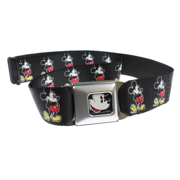 Mickey Mouse - Classic Mickey Mouse Pose Seatbelt Belt-Holds Pants Up
