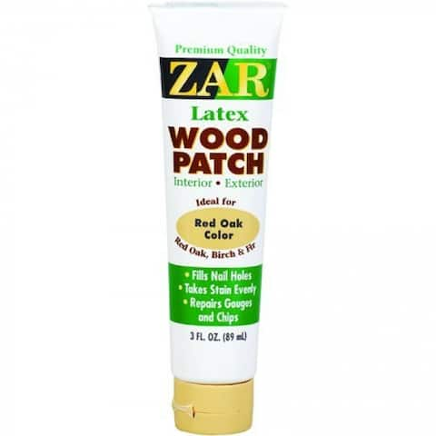 ZAR 31041 Interior/Exterior Latex Wood Patch, Red Oak, 3 Oz