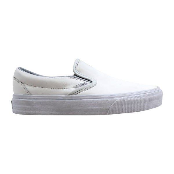 Shop Vans Classic Slip-On Metallic Gore White/Silver Men's ...