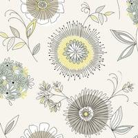 Brewster 2535-20682 Maisie Green Floral Burst Wallpaper - N/A