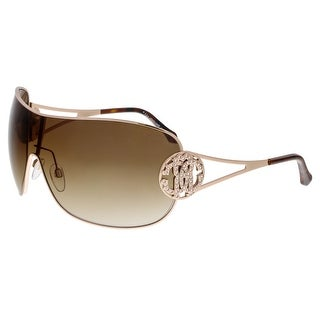 Roberto Cavalli RC891S MENKAR 28F Rose Gold Shield Sunglasses