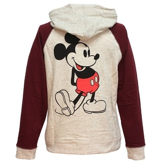 Disney Classic Mickey Mouse 28 Raglan Womens Lightweight Pullover Hoodie