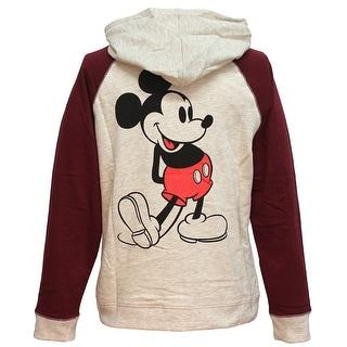 Disney Classic Mickey Mouse 28 Raglan Womens Lightweight Pullover Hoodie (Option: M)