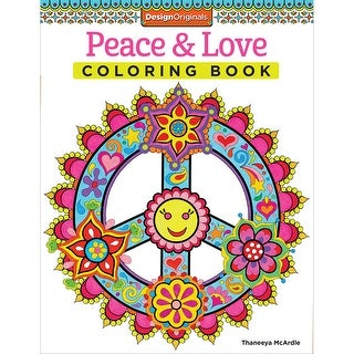 Design Originals-Peace & Love Coloring Book