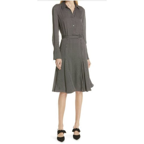 EQUIPMENT FEMME Black Long Sleeve Below The Knee Dress 2