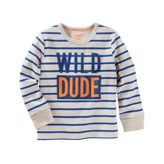 OshKosh B'gosh Big Boys' Wild Dude Striped Tee, 14 Kids