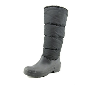 Dirty Laundry Puffy Women Round Toe Canvas Black Snow Boot