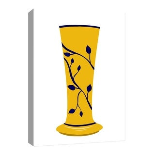 """PTM Images 9-126624  PTM Canvas Collection 8"""" x 10"""" - """"Golden Vase"""" Giclee Leaves Art Print on Canvas"""