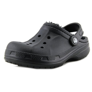 Crocs Winter Clog Youth Round Toe Synthetic Black Clogs