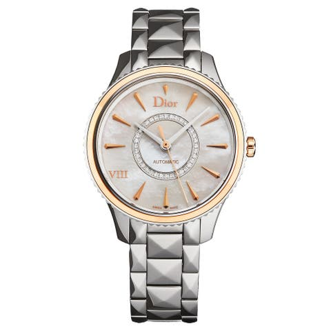 Christian Dior Women's CD1535I0M001 'Montaigne' Mother of Pearl Diamond Dial Rose Gold Bezel Swiss Automatic Watch