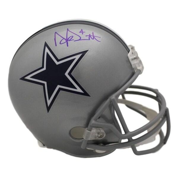 389b1676f Dak Prescott Autographed Dallas Cowboys Full Size Replica Helmet JSA