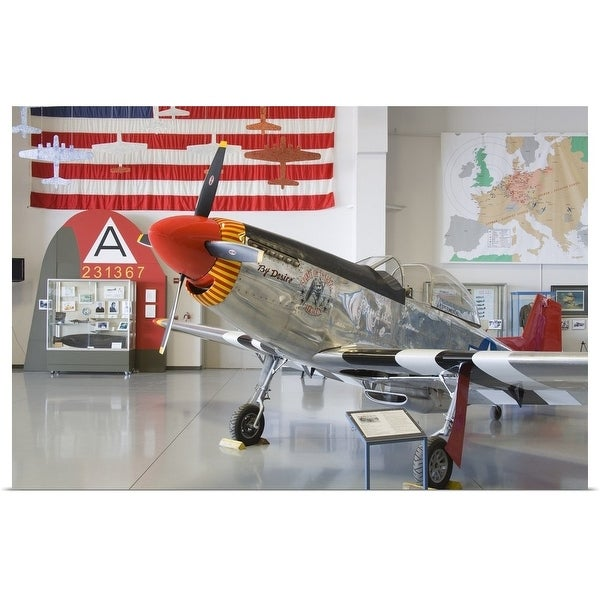 """""""Fighter plane at the Commemorative Air Force"""" Poster Print"""