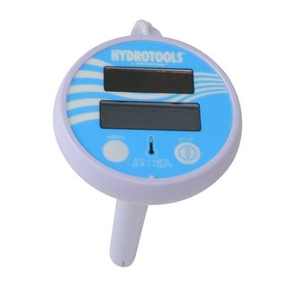 "5.5"" White and Blue HydroTools Solar Powered Floating Digital Thermometer for Swimming Pools or Spas - N/A"