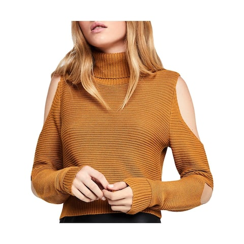 BCBGeneration Womens Sweater Turtleneck Cold Shoulder