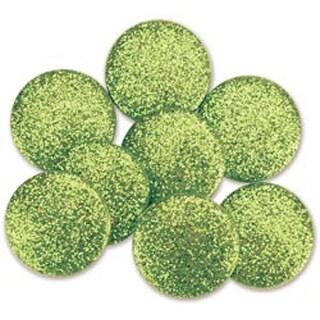 Lime - Dress It Up Big Glitter Dots 19Mm 8/Pkg