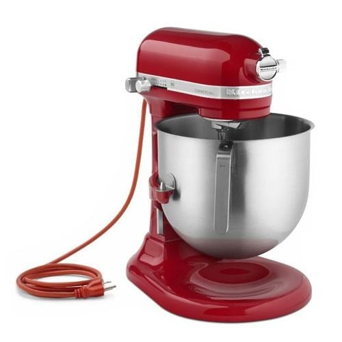 Shop Kitchenaid Commercial Ksm8990er 8 Qt Empire Red