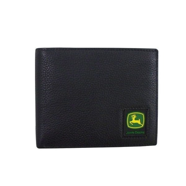 John Deere Western Wallet Mens Leather Rubber Patch Pass Case - One size