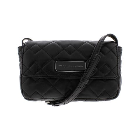 Marc by Marc Jacobs Womens Crosby Quilted Julie Crossbody Handbag Leather Purse - Small